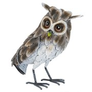 Fountasia Grey Owl Closed Wings Small (PS97033)